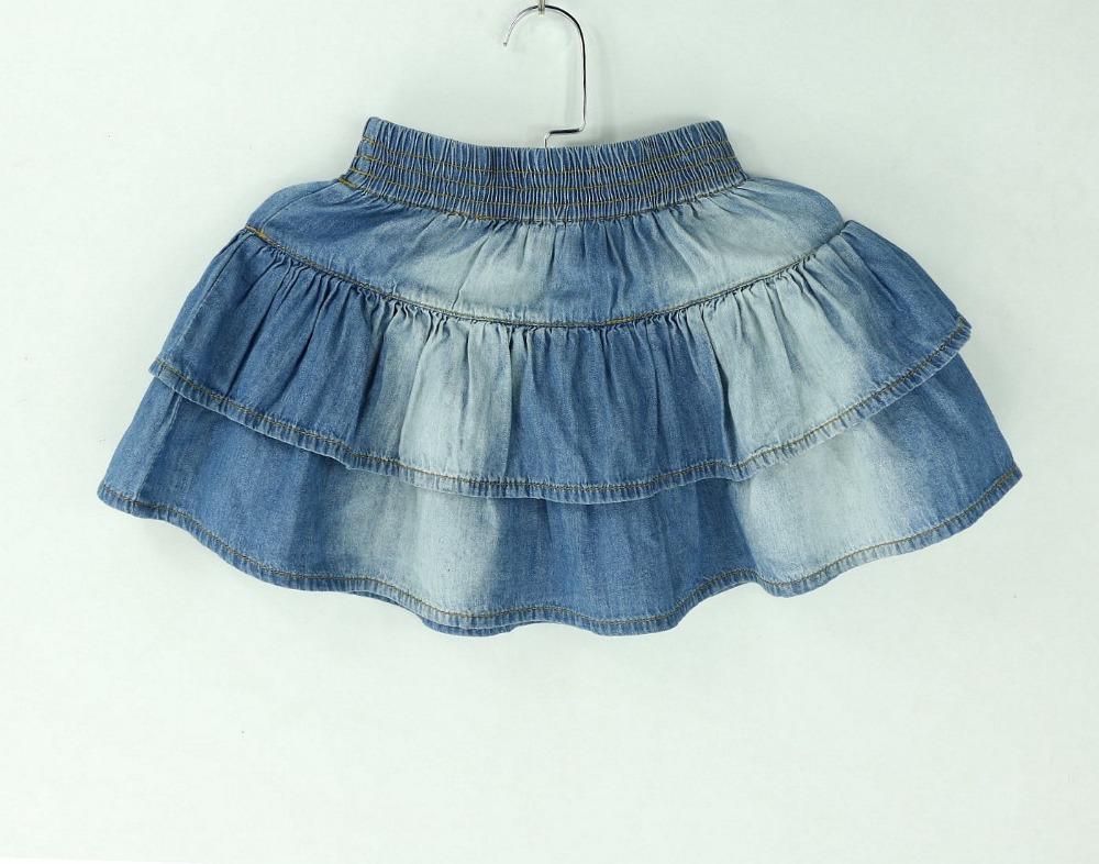 2015 new summer style denim tutu mini skirts children
