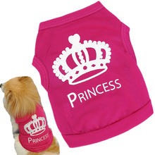 Buy 100% Cotton Dog Cloth Pet Cat Princess Vest Summer Puppy Spring Diamond Crown T-shirt Party Dressing Dogs Clothes 15 for $1.37 in AliExpress store
