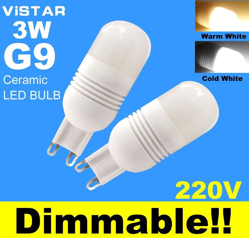 buy g9 led dimmable support dimmer 3w led lamp led light bulbs 220v 230v cold. Black Bedroom Furniture Sets. Home Design Ideas