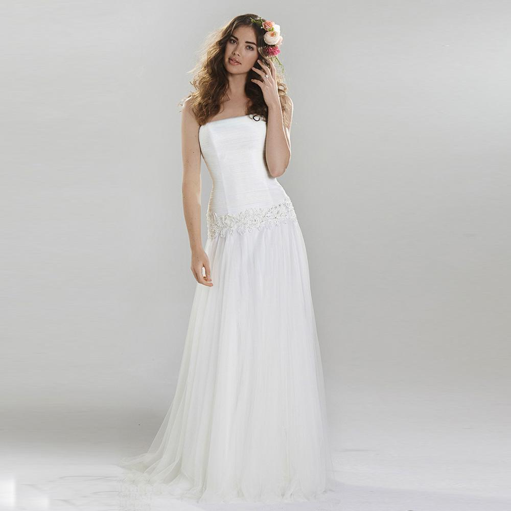 Чистый белый свадебные платья складками старинные свадебное платье 2016 Vestido Noiva винтаж свадебное платье одеяние де тюль