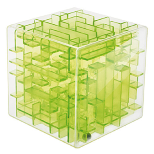 3 Color Magical 3D Maze Magic Cube Puzzle Game Children Educational Labyrinth Rolling Ball Toy,Free Shipping(China (Mainland))