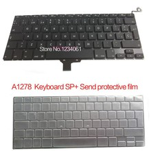 "5pcs 100%NEW SP Spanish Spain Keyboard For Macbook Pro 13"" A1278 SP Spanish Spain keyboard mc700 mc374 mb990 md101 2009-2013Year()"