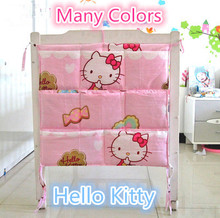 Promotion! Kitty Mickey 62*52 Kids Baby Bath Tub Toy Bag Hanging Organizer Storage Bag,baby bedding set