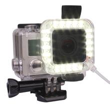 USB 20 LED Lens Ring Shooting Nightshot Flash Light Lamp for New GoPro Hero 4/ 3+/ 3 Standard Waterproof Housing Case(China (Mainland))