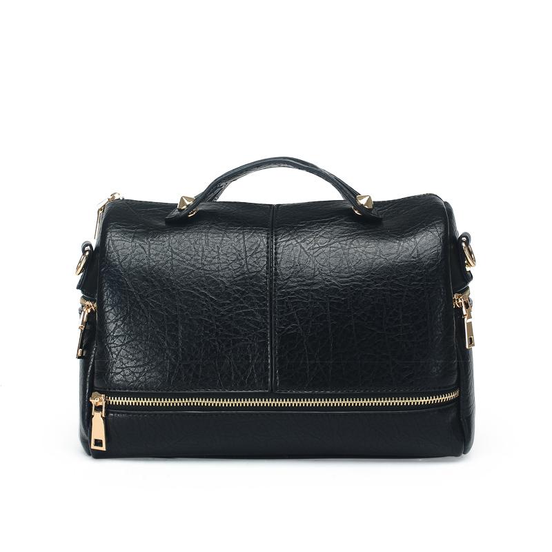 2016 Women Messenger Bags Fashion Pillow Handbags Ladies Pu Leather Shoulder Casual Solid Cross Body Boston Bag - Fabra store