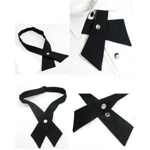 Fashion Adjustable Cross Tie Unisex tie Solid Color Necktie women's men's - Moon Queen Store store
