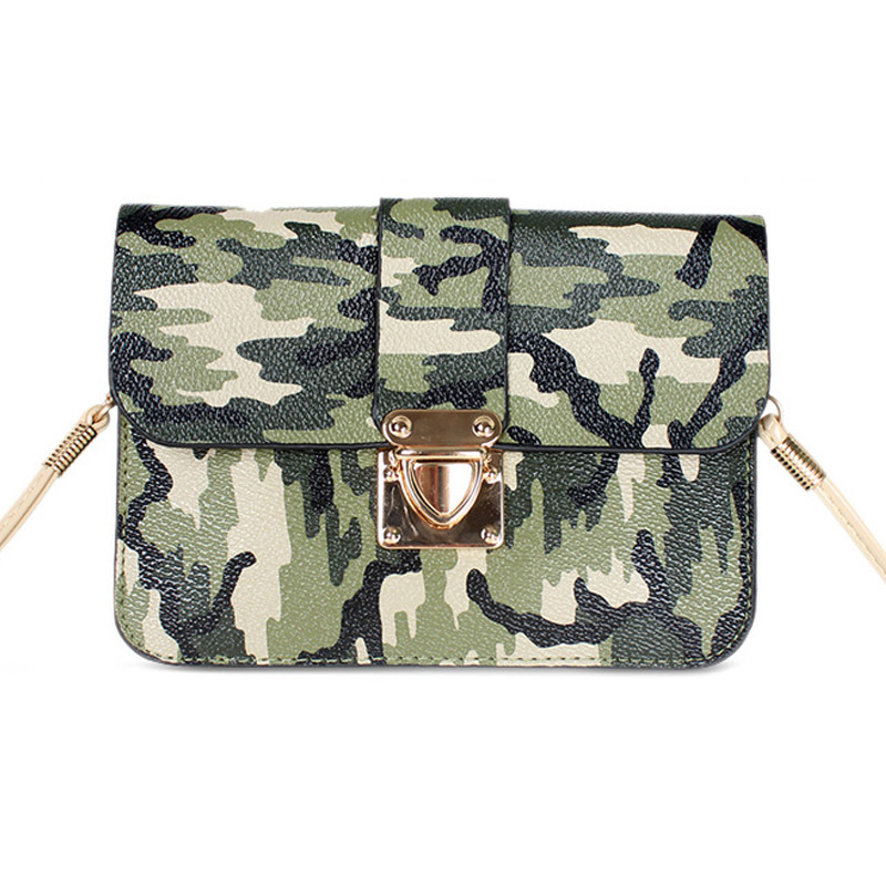 2015 New Mini Camouflage bag designer bags women messenger cross body purse army green high quality leather pu hasp flips FS2015(China (Mainland))