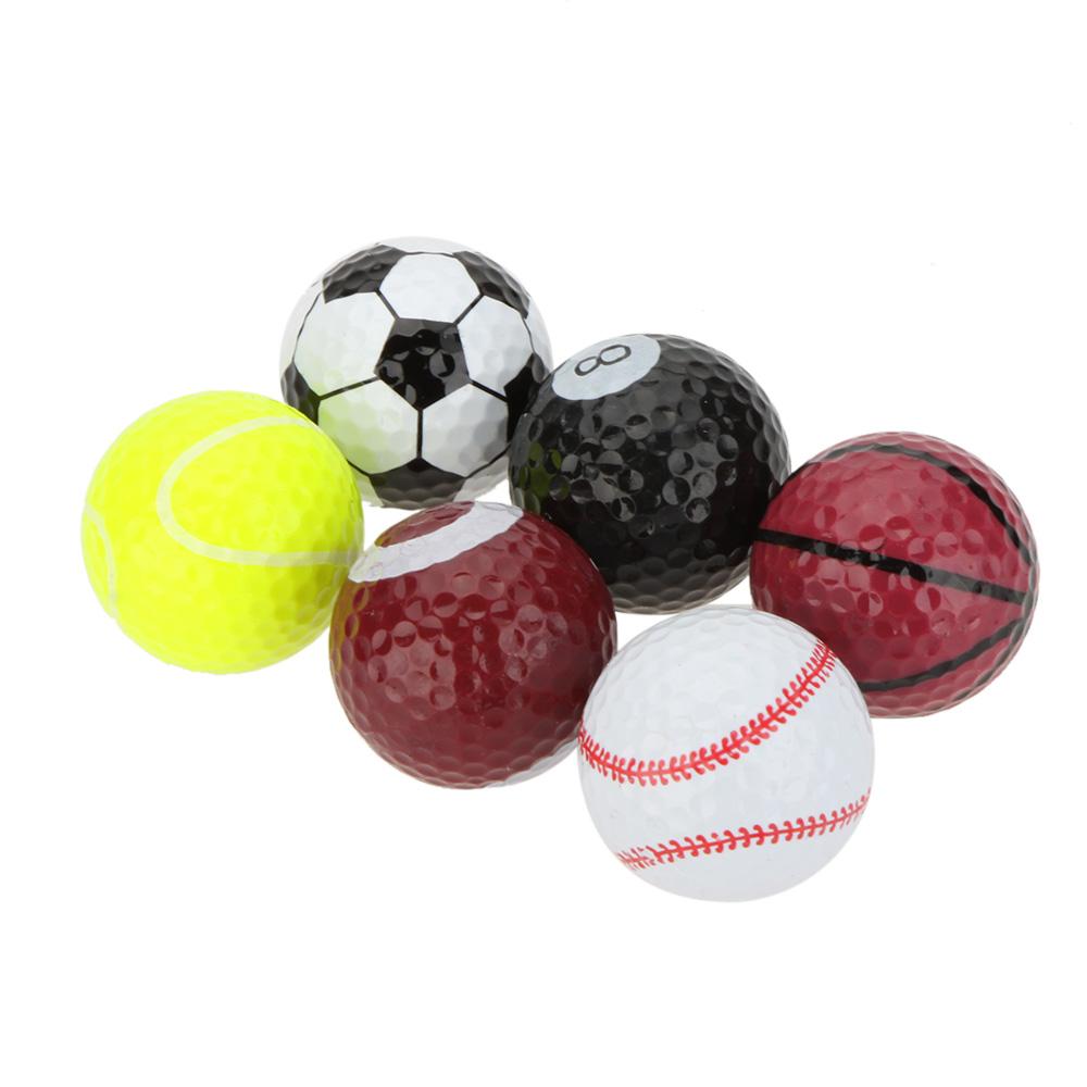 6 Pcs/Lot Seamless Dimple Design Golf Balls Creative Sports Golf Ball Novel Double Ball Two Piece Ball Pelota Golf(China (Mainland))