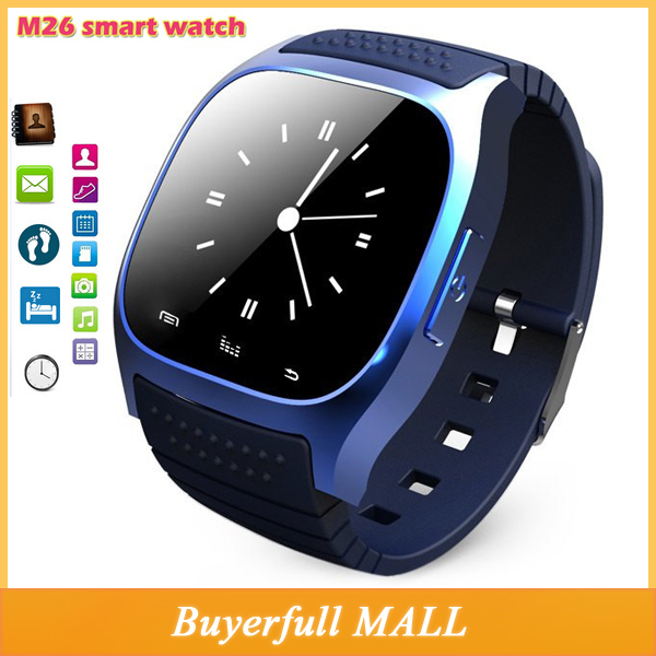 2015 Luxury R-Watch bluetooth M26 Bluetooth Smart Watch rwatch LED with Dial/Call Answer/SMS Reminding/ Music Player/Anti-lost(China (Mainland))
