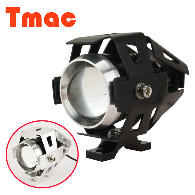 1Pcs 125W 2 Color Car Motorcycle Motorbike 3000LM CREE U5 LED Driving Fog Spot Head Light Lamp Headlight Daytime Running Light(China (Mainland))