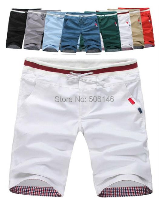 mix colour Men top casual Sport Shorts Men's solid color cotton beach surf quick drying shorts fashion M-6XL
