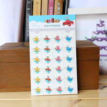 24 pcs/lot DIY Ocean series cute Paper Stickers for Photo Albums Excellent Handwork Frame Decoration paper for Scrapbooking set(China)