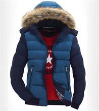2015 jacket winter coat Men s warm padded jacket mens cotton men casual Patchwork Fur hooded
