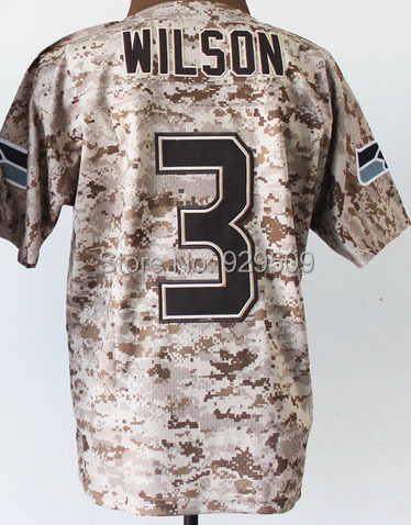 Newest Russell Wilson Fashion Jersey  Elite American Football Jersey Camo Shipping