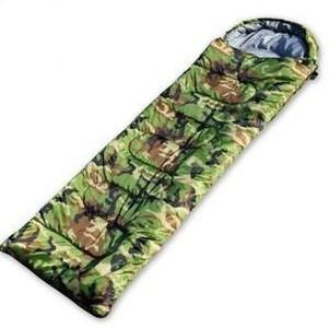 1.1kg Outdoor Camping Adult Army Green Camouflage single sleeping bag,three season cotton envelope sleeping bag