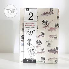 MOUSRS Flower Bird Tree Fish Notebook Empty Page Note Book Sketchbook Journal kawaii school supplies