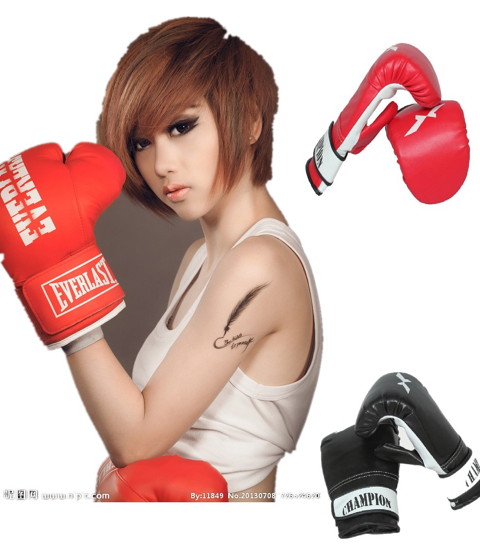 2014 NEW Boxing MMA kick punching gloves boxeo half fighting boxing Gloves equipment extension wrist leather Boxing Glovesboxing(China (Mainland))