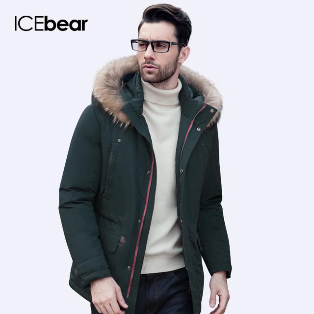ICEbear 2016 Высокое Качество Зимняя Куртка Мужчины Сгущает Пальто Известный Хлопка Мягкой Моды Парки Бизнес Плюс Размер 5XL16M623D
