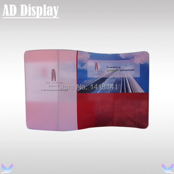 10ft Double Side S-Shaped Portable Trade Show Booth Tension Fabric Banner Backdrop Wall Display,Exhibitoin Advertising Equipment(China (Mainland))