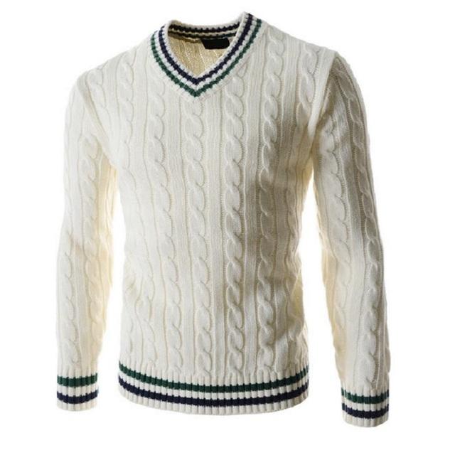 2016 новых осенью и зимой мужской пуловер толстый свитер мужчин классический v-образным ...