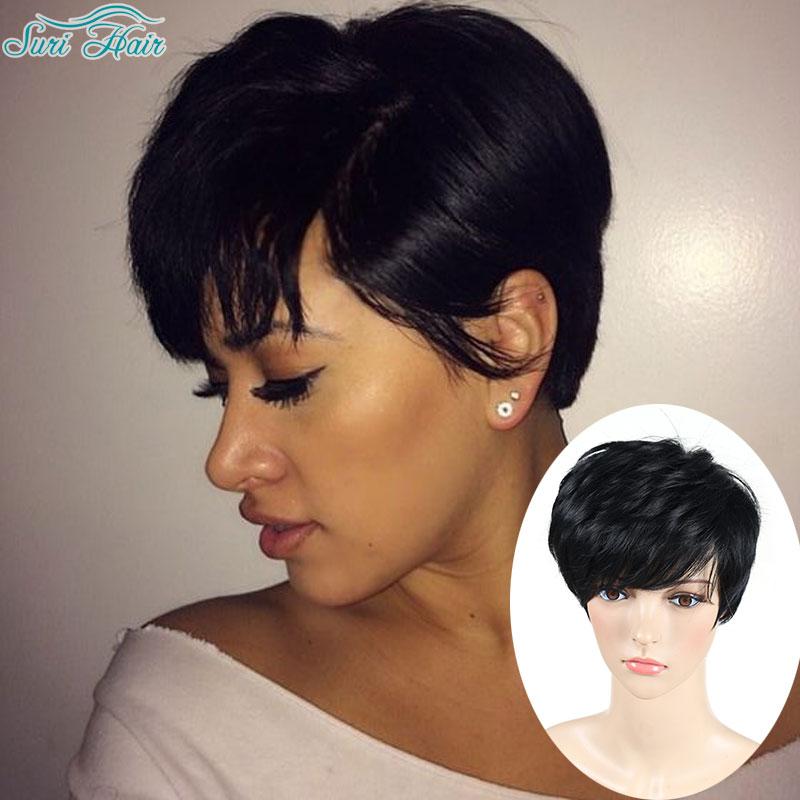Pixie Cut Wig Short Wigs For Black Women African American Short Wigs ...