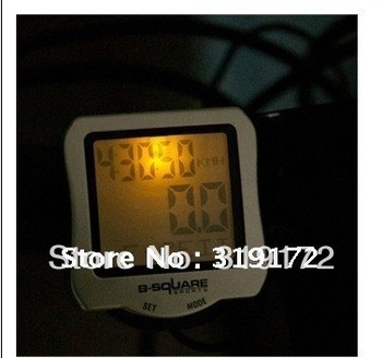 Free shipping, bicycle code table with illumination, bike computer, stopwatch,bike meter speedometer, electroic bike accessory