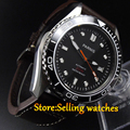 Parnis New 45mm black dial Ceramic Bezel Automatic Movement Men s Watch