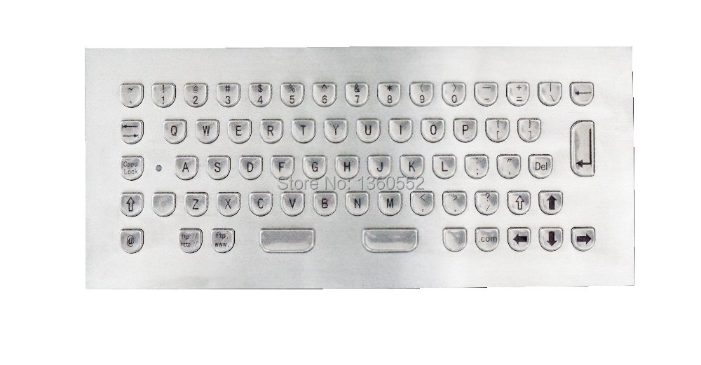 Humanized Metal Keyboard with U Shape Keys, Similar Indukey design keycap stainless steel industrial keyboard(China (Mainland))