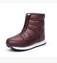 Nueva 2016 Otoño Invierno Casual Botas de Nieve Impermeables de Las Mujeres Del Tobillo Botas Planas Térmicas antideslizante Moda de Invierno Zapatos de Mujer(China (Mainland))