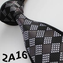 2015 Latest Style Designer Ties Black/Dark Gray/White Plaid Design/Men's Accessories/Gifts For Men/Casual Dress/Neckties For Men
