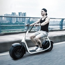 newest powerful 18 inch 2 wheel scooter wide tires 1000w motor electric scooter long range 60km smart scooter with APP(China (Mainland))