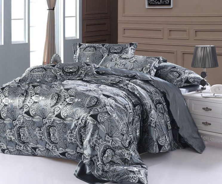 achetez en gros blanc paisley literie en ligne des grossistes blanc paisley literie chinois. Black Bedroom Furniture Sets. Home Design Ideas