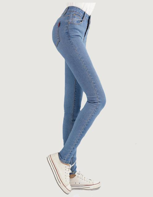 НОВАЯ мода марка женщины тощий карандаш джинсы упругие брюки стиральная цвет хорошее ...