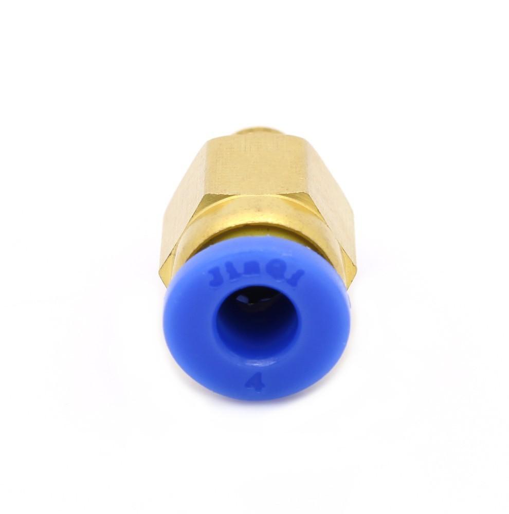 2 pcs/lot PC4-M6 Pneumatic Straight Fitting Connector for 4mm OD tubing M6 6mm Reprap 3D Printer Printers