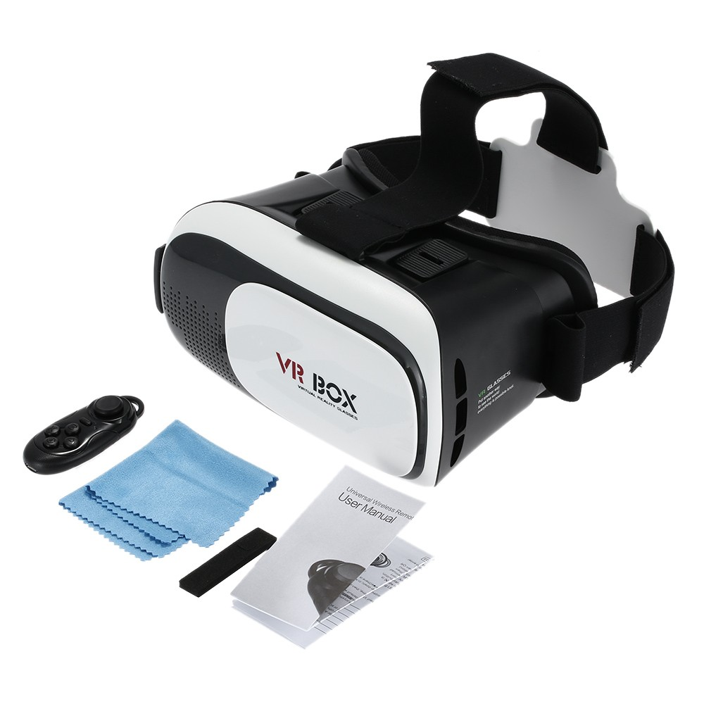 3D VR Glasses Virtual Reality Video Movie Head Mounted Headband with Multifunctional Wireless Bluetooth V3.0 for Smart Phones
