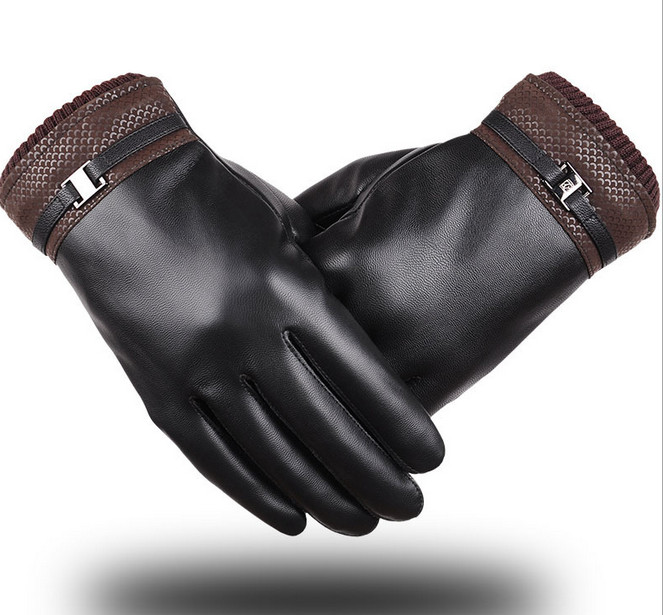 Best Deal New Fashion Good Quality Mens Black Mittens Luxurious Winter Super Driving Warm Gloves Gift(China (Mainland))