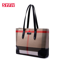 2016 Hot Sale Women Bags Handbags Women Famous Brands Canvas Shoulder Bag For Girls Plaid Tote Bag Ladies Purses and handbags