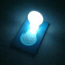 2 Pieces Card Light Credit Card Size Foldable Pocket Light Portable LED Lamp(China (Mainland))