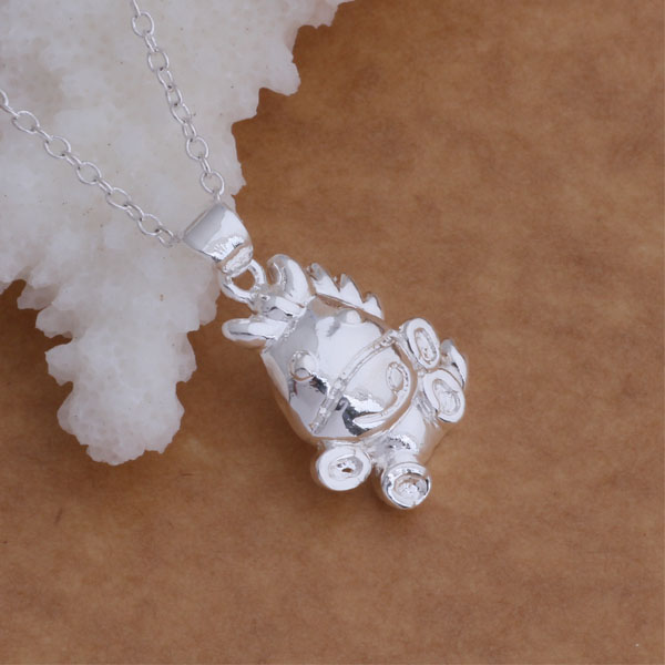 Free Shipping 925 Silver Necklaces & Pendants Fashion Silver Jewelry Cartoon cow /ejmanata aziajqpa AN025(China (Mainland))