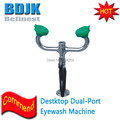 Solid Brass Emergency Desktop Dual Port Moveable Eye Wash