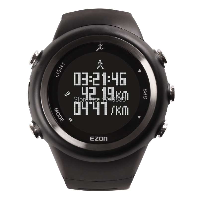 Free Shipping 2015 EZON Hot Selling Men Sports Watches GPS Time Outdoor Running Casual Sports Watches For Men/T031(China (Mainland))