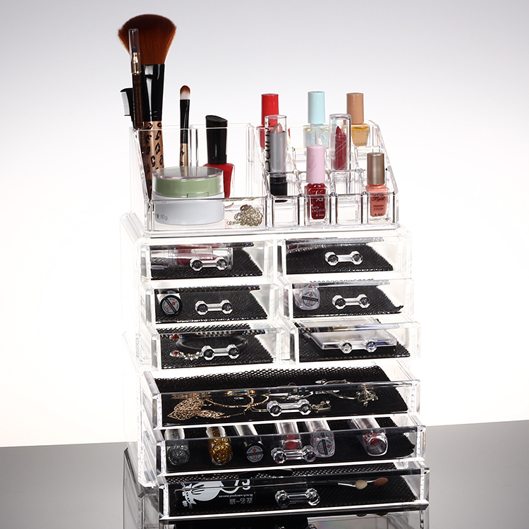 acrylique maquillage organisateur bo te de rangement case. Black Bedroom Furniture Sets. Home Design Ideas