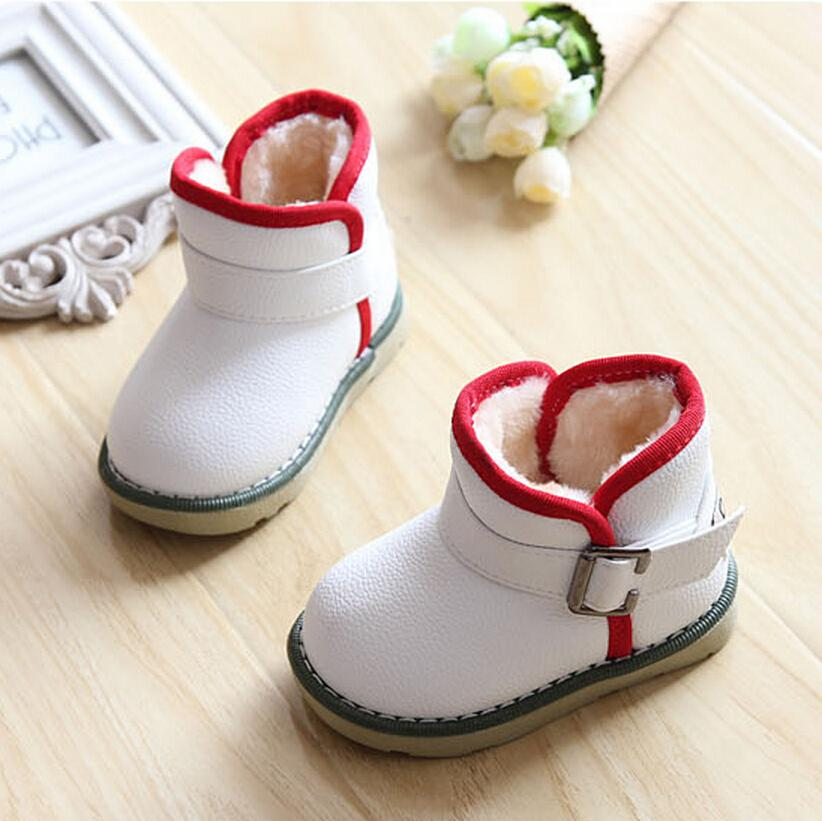 Waterproof Children Boots 2016 Winter Plush Girls Martin Boys Warm Shoes Kids Baby - Guangzhou store