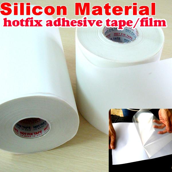 10M length/Lot ,32cm Wide Hot fix paper & tape Silicon adhesive iron on heat transfer film HotFix rhinestones DIY tools Y2624(China (Mainland))