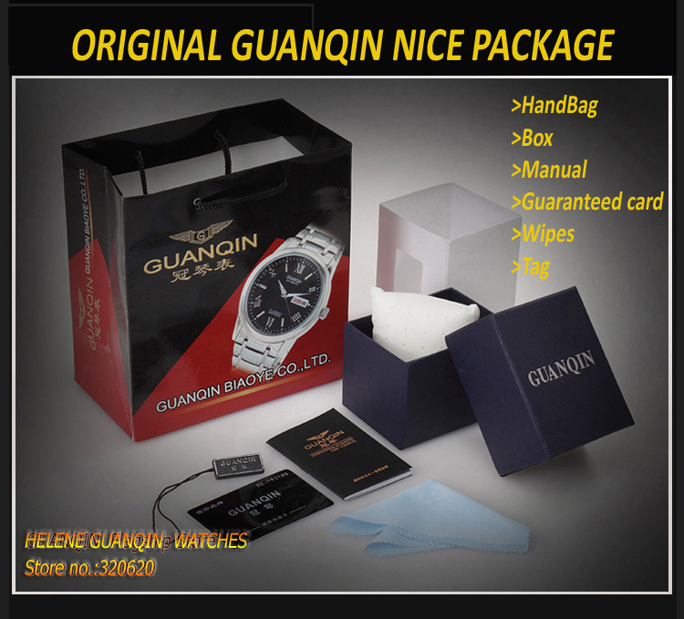 Original Box for GUANQIN Watches, Watch boxes with pillow package, tag, nice gift(China (Mainland))