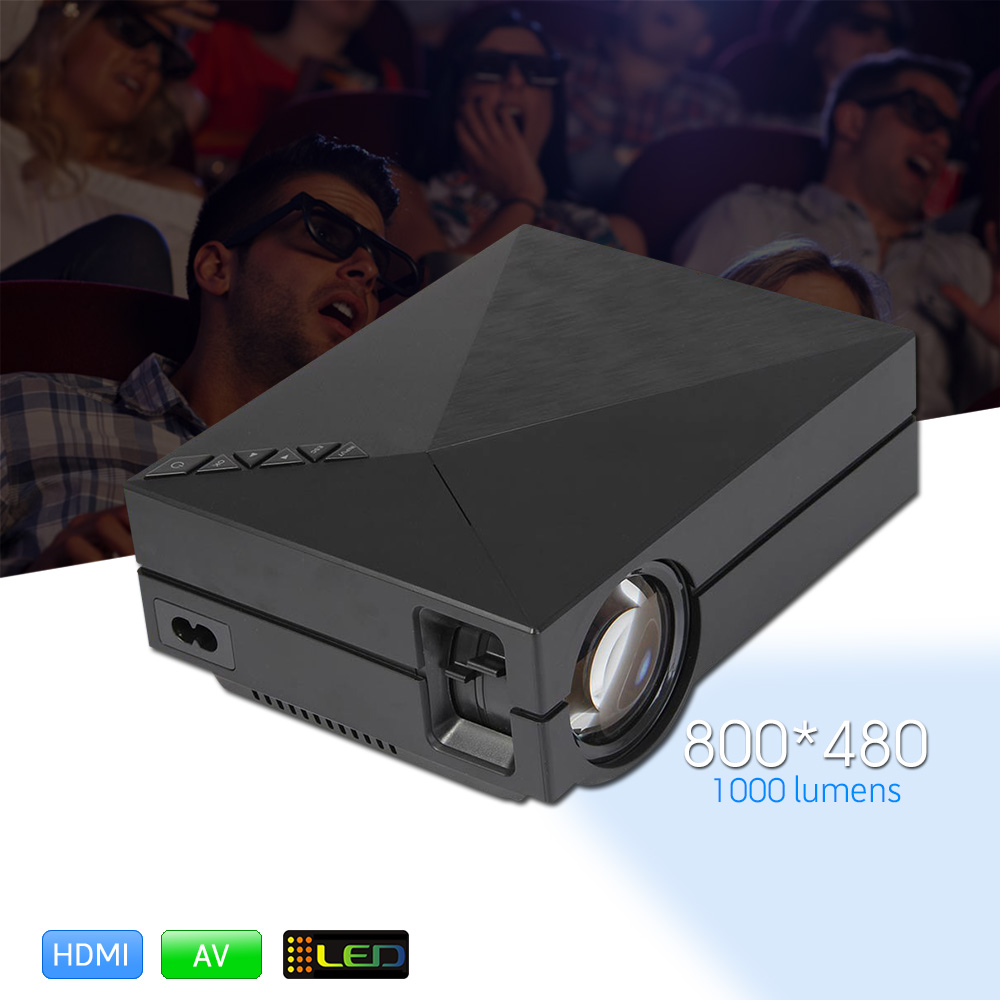 Pocket GM60 MINI LED Portable Projector 1000Lm 800 x 480 Pixels 1080P HD Projection for Home Theater Cinema