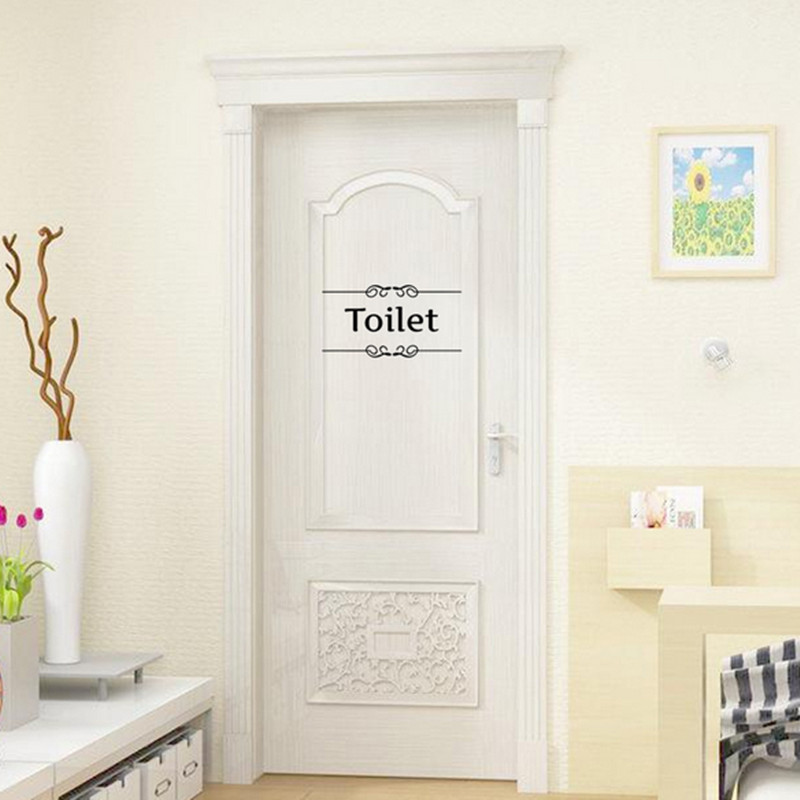 Vintage Wall Sticker Bathroom Toilet Door Characters Decor Vinyl Decal Wallpaper Transfer Decoration Wall Art Stickers Poster