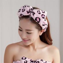 Fashion Kawaii Celebrity Inspired Women Bow Beauty Makeup Bath Wash Sport Hairdo Towel Headband Headwear Hairlace Bands Turban(China (Mainland))