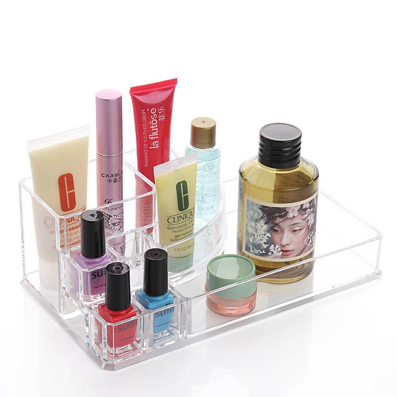 2016 Storage Box Organizador Jewelry Transparent Acrylic Makeup Organizer Lipstick Cosmetic Box Cosmetics Cases Cosmet Gift C30(China (Mainland))