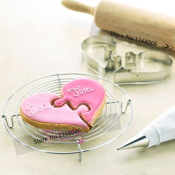 love heart stainless steel wedding cookies cutter mold biscuit mould cutting tools - YO store